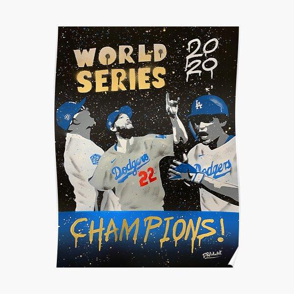 LA 2020 CHAMPIONS - Baseball Graffiti Art Poster