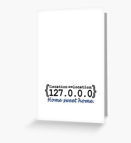 127.0.0.0 - Home sweet Home VRS2 Greeting Card