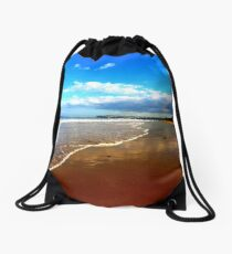 On the beach, Marske to Saltburn. Drawstring Bag