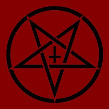 Pentagram with Upside Down Cross by bonedesigns