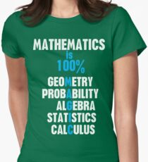 Mathematics Womens Fitted T-Shirt