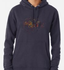 Time Lord Writing (blau) Hoodie