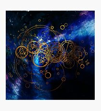 Time Lord Writing (blue) Photographic Print