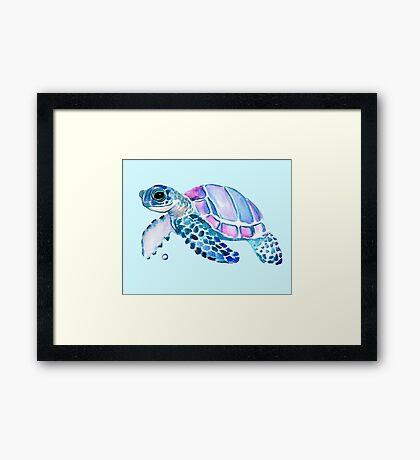 Lovely Turtle Framed Print
