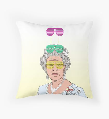 Cool Down - Queen Elizabeth II Throw Pillow