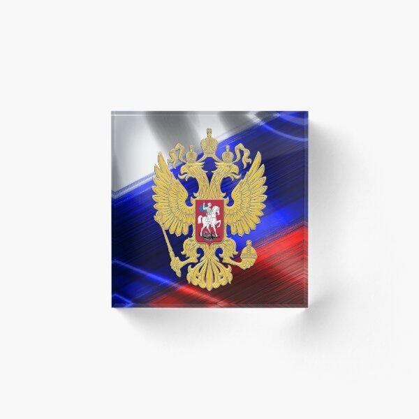 Golden Russia Acrylic Block