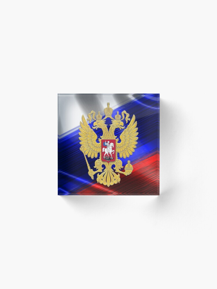 Alternate view of Golden Russia Acrylic Block