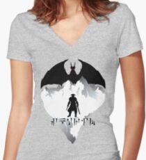 Dovahkiin Women's Fitted V-Neck T-Shirt