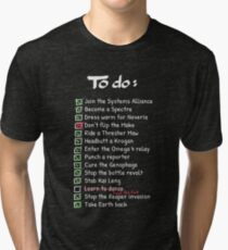 Commander Shepards To-Do List Tri-blend T-Shirt