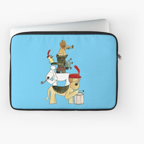 Dog Terrier Marching Band Illustration Laptop Sleeve