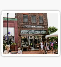 """Burrville Antiques""... prints and products Sticker"