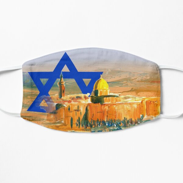 Jerusalem Israel Fahne, Wüste Negev, Israel Trail Flache Maske