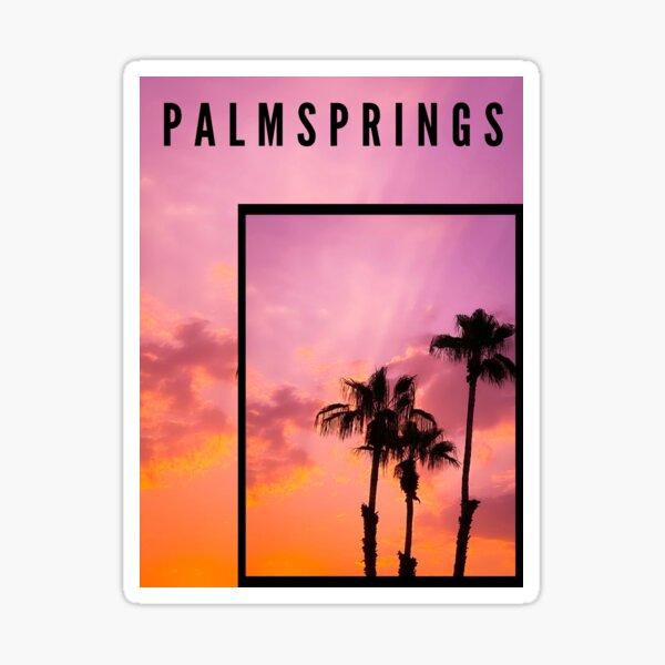Pink Palm Springs Sticker