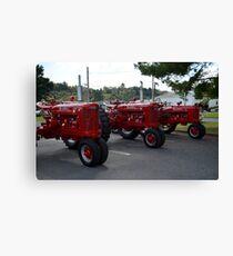 Red Tractors Canvas Print
