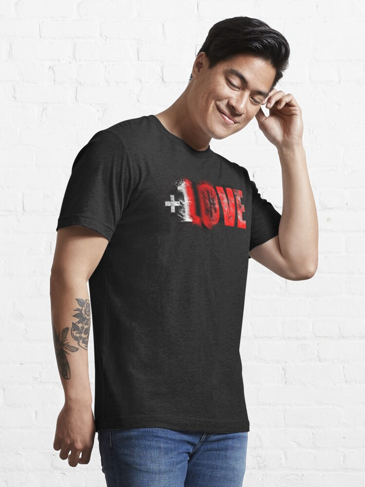 Alternate view of +1 LOVE scattered Essential T-Shirt