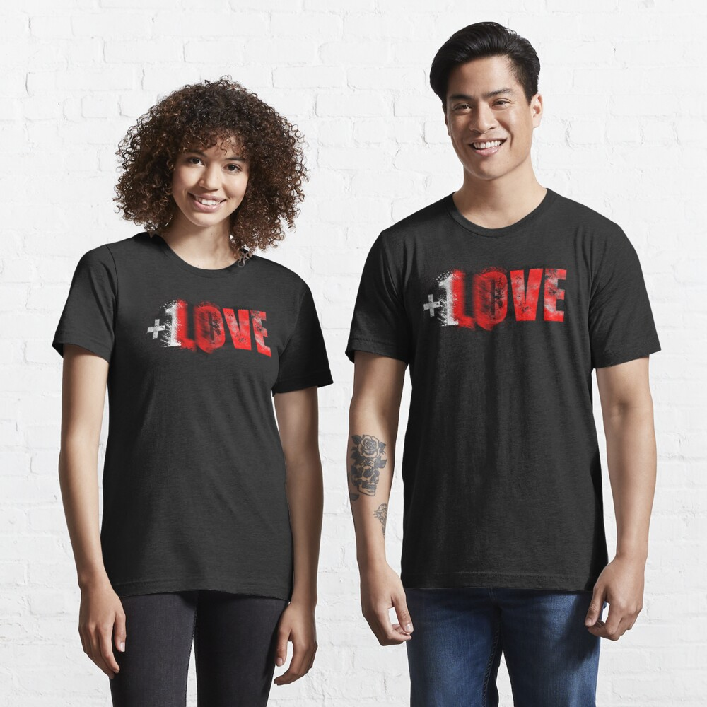 +1 LOVE scattered Essential T-Shirt