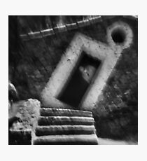 Abstract balance between man and architecture Photographic Print