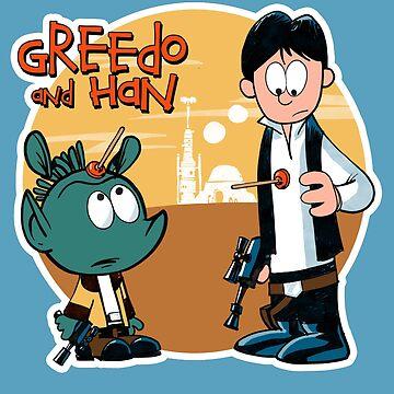 """Greedo & Han"" by PirateZomby"
