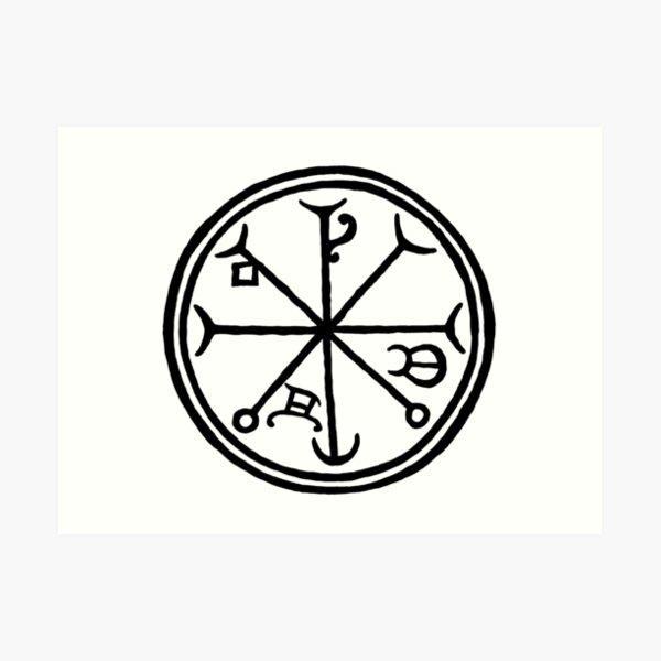 Master of Spirits talisman by Gemma Gary Art Print