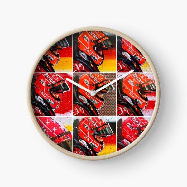 Michael Schumacher graffiti painting by DRAutoArt Clock