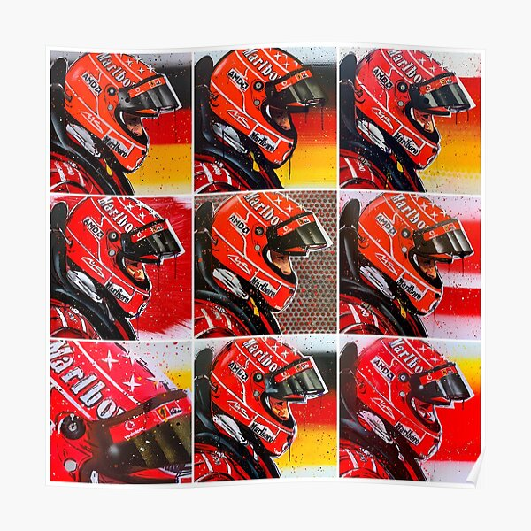 Michael Schumacher graffiti painting by DRAutoArt Poster