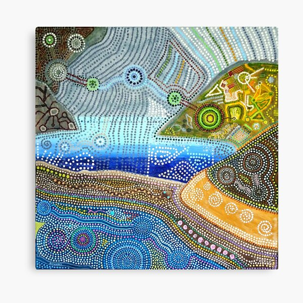 Land Mass with Distant Sea Canvas Print