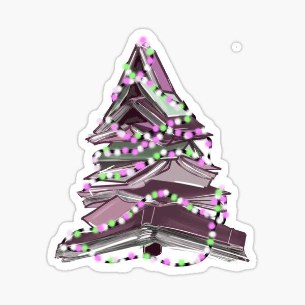 Bookish Christmas Tree  Sticker