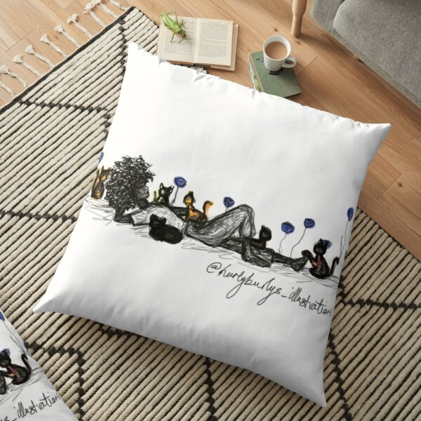 Cat Lover Fields Floor Pillow