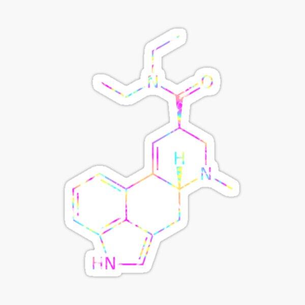Molécula de LSD (Psicodélico) Pegatina