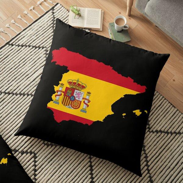 flag map of spain Floor Pillow