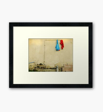 They woke up and one of them was smiling Framed Print