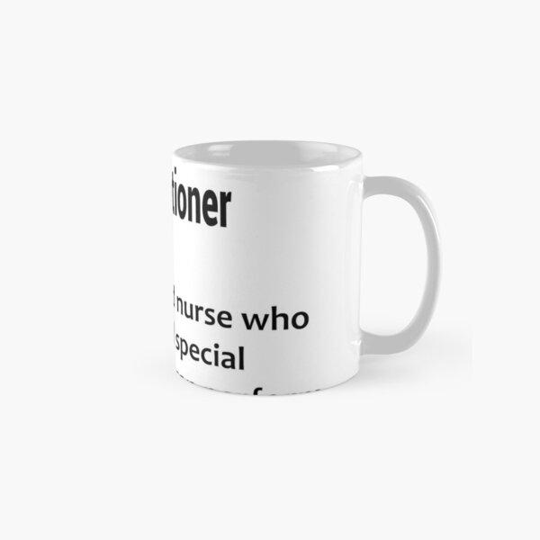 funny  nurse practitioner definition gift  Classic Mug