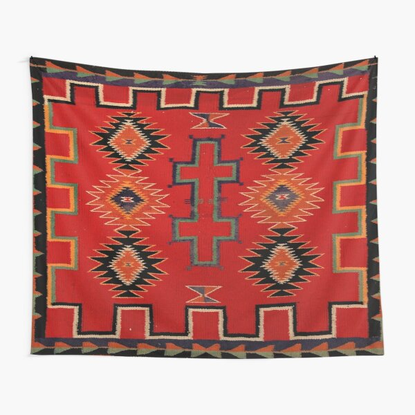 1890 NAVAJO SADDLE BLANKET - SCAN OF ORIGINAL WORTH $38,000 Tapestry
