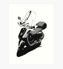Vespa Scooter- Black & White Art Print