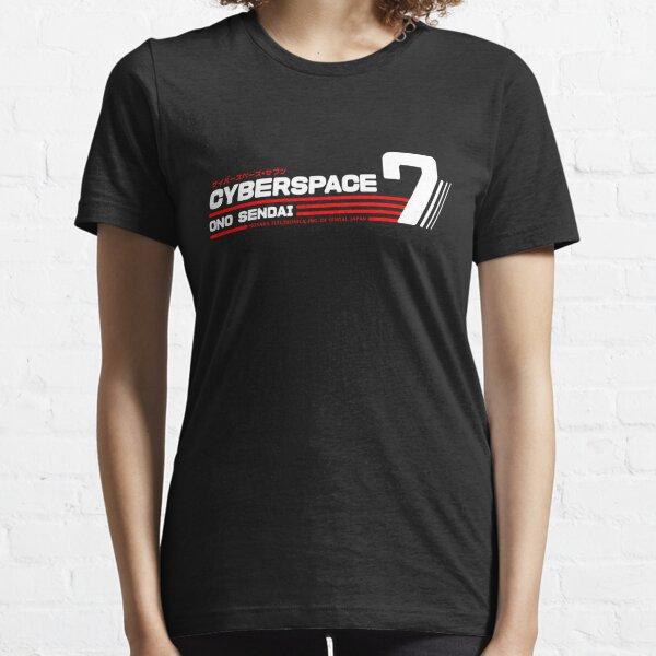 Hosaka Ono-Sendai Cyberpace 7 (White Horizontal version) Essential T-Shirt
