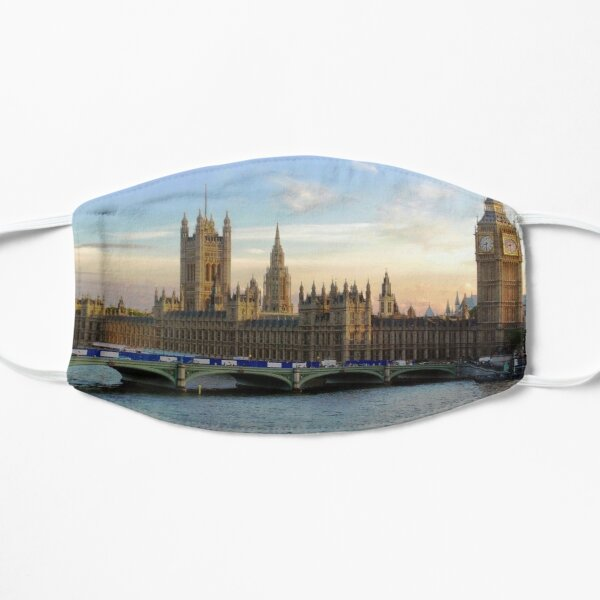 Houses of Parliament Westminster Whitehall Londond England Flat Mask