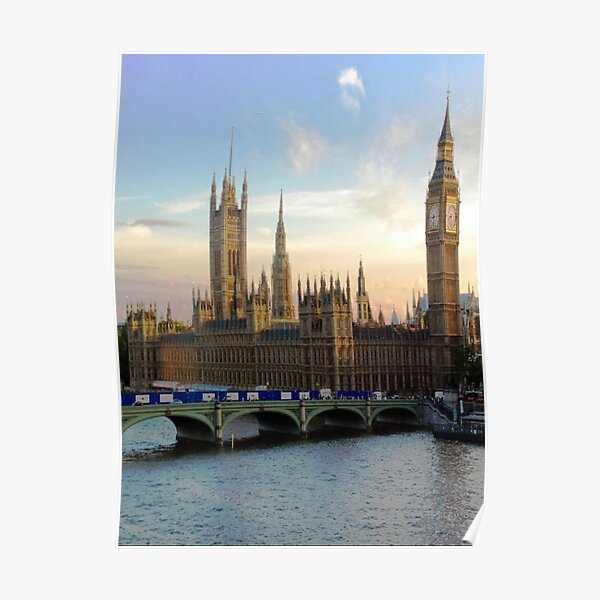 Houses of Parliament Westminster Whitehall Londond England Poster