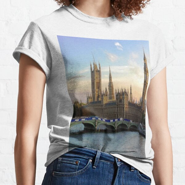 Houses of Parliament Westminster Whitehall Londond England Classic T-Shirt