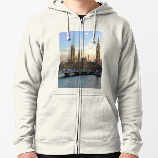 Houses of Parliament Westminster Whitehall Londond England Zipped Hoodie