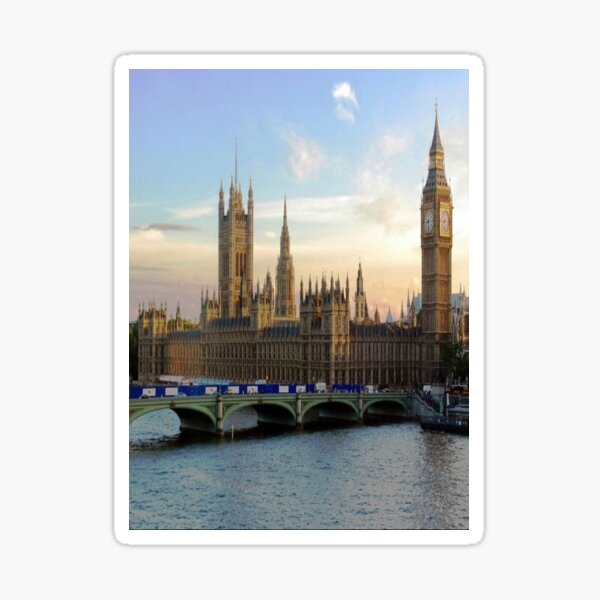 Houses of Parliament Westminster Whitehall Londond England Sticker