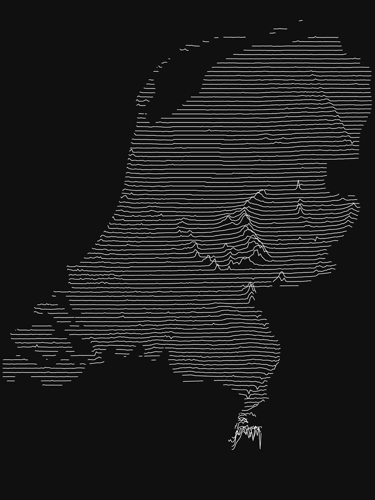 The Netherlands Joy Division Unknown Pleasures Style by jvdkwast
