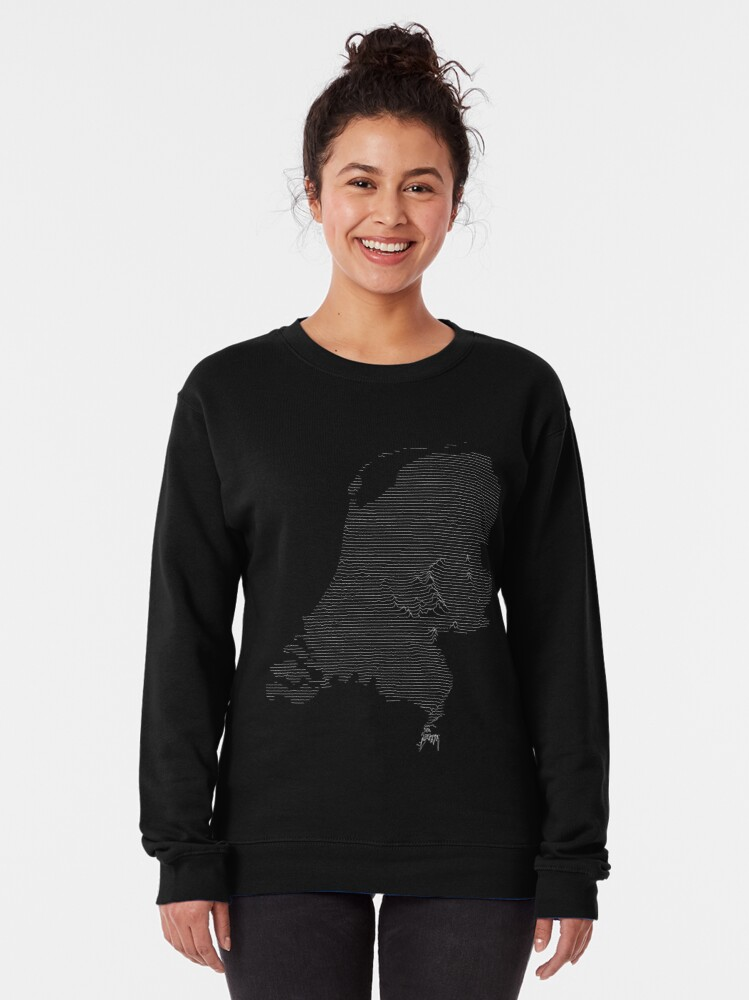 Alternate view of The Netherlands Joy Division Unknown Pleasures Style Pullover Sweatshirt