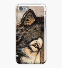 Painted Timber Wolf Artwork  iPhone Case/Skin