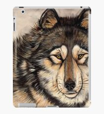 Painted Timber Wolf Artwork  iPad Case/Skin