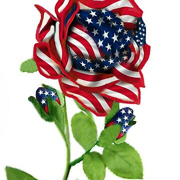 .♥➷♥•* Stars & Stripes Rose For 9-11 In Rememberance Throw Pillow.♥➷♥•*¨ by Rapture777