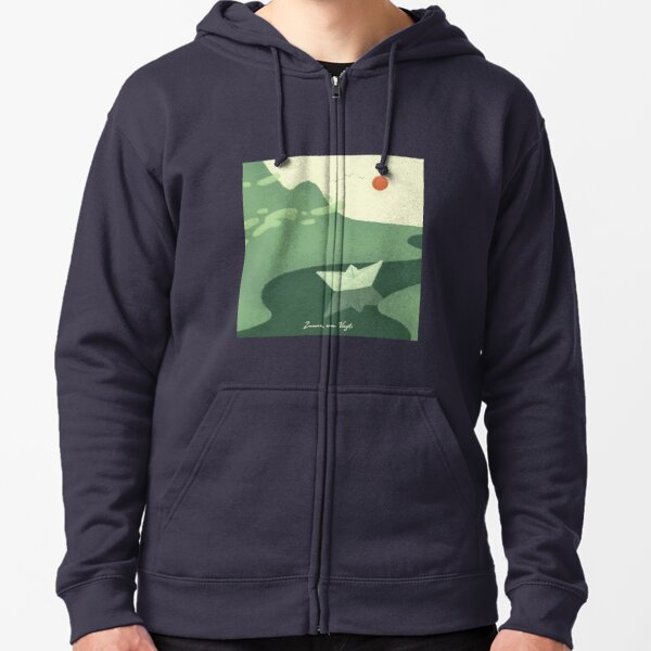 Go with the flow Zipped Hoodie