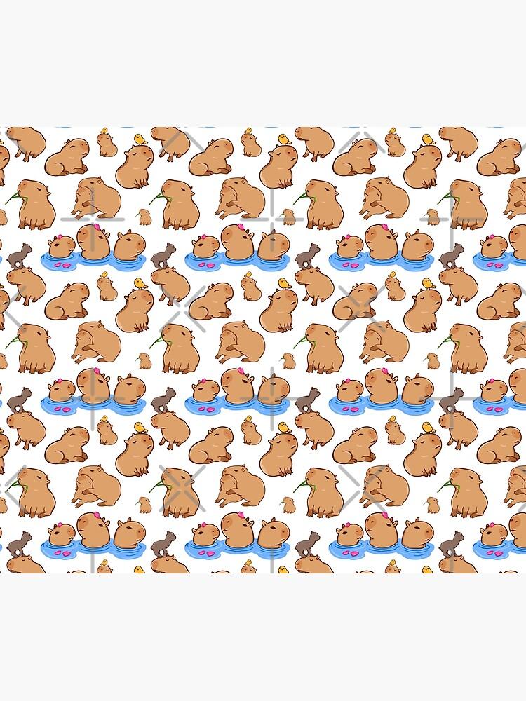Capybara Pattern by manydoodles
