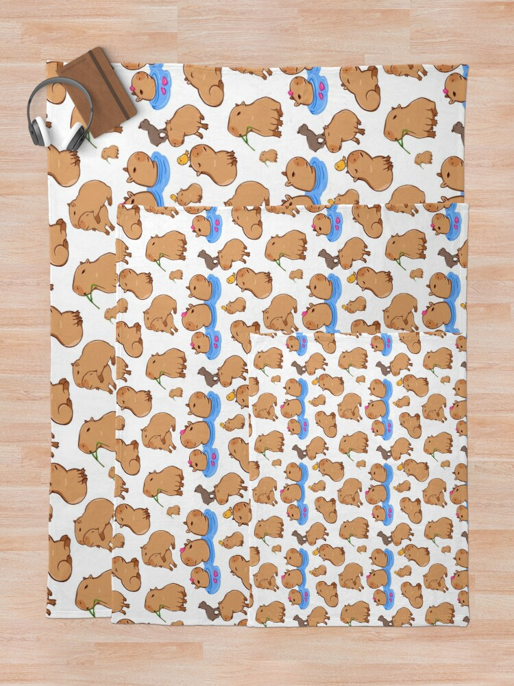 Alternate view of Capybara Pattern Throw Blanket