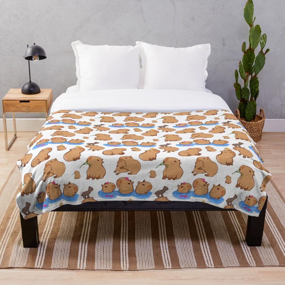 Capybara Pattern Throw Blanket