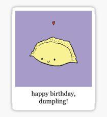 Happy birthday, Dumpling! Sticker